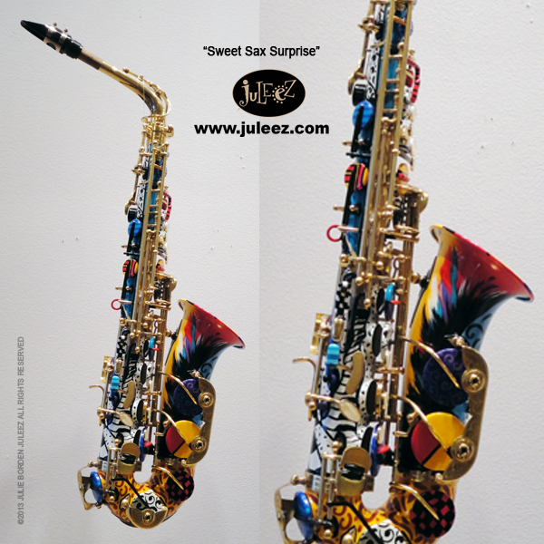 e737f2610 Painted Colorful Saxophone Musical Instrument Store
