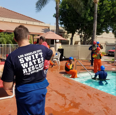 LA City Fire SWET Training in local pool