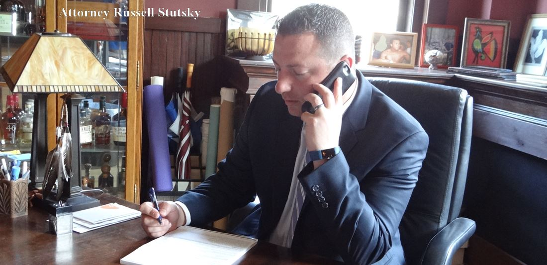 Attorney Russell Stutsky at his law offices