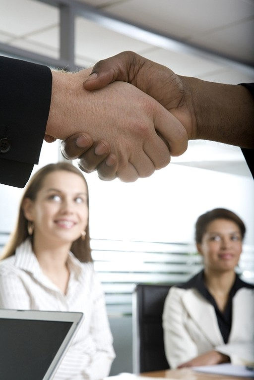 Handshake at a successful business meeting
