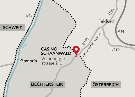 Location map for the casino