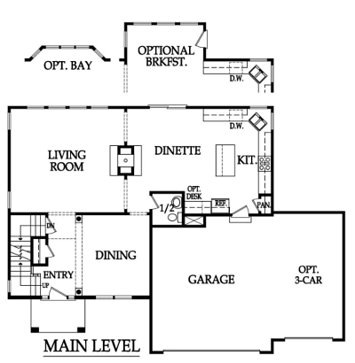 The Pinehurst Floor Plan by Ashlar Homes