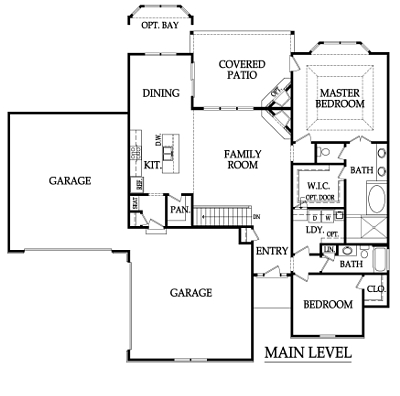 The Sycamore Floor Plan Main Level by Ashlar Homes
