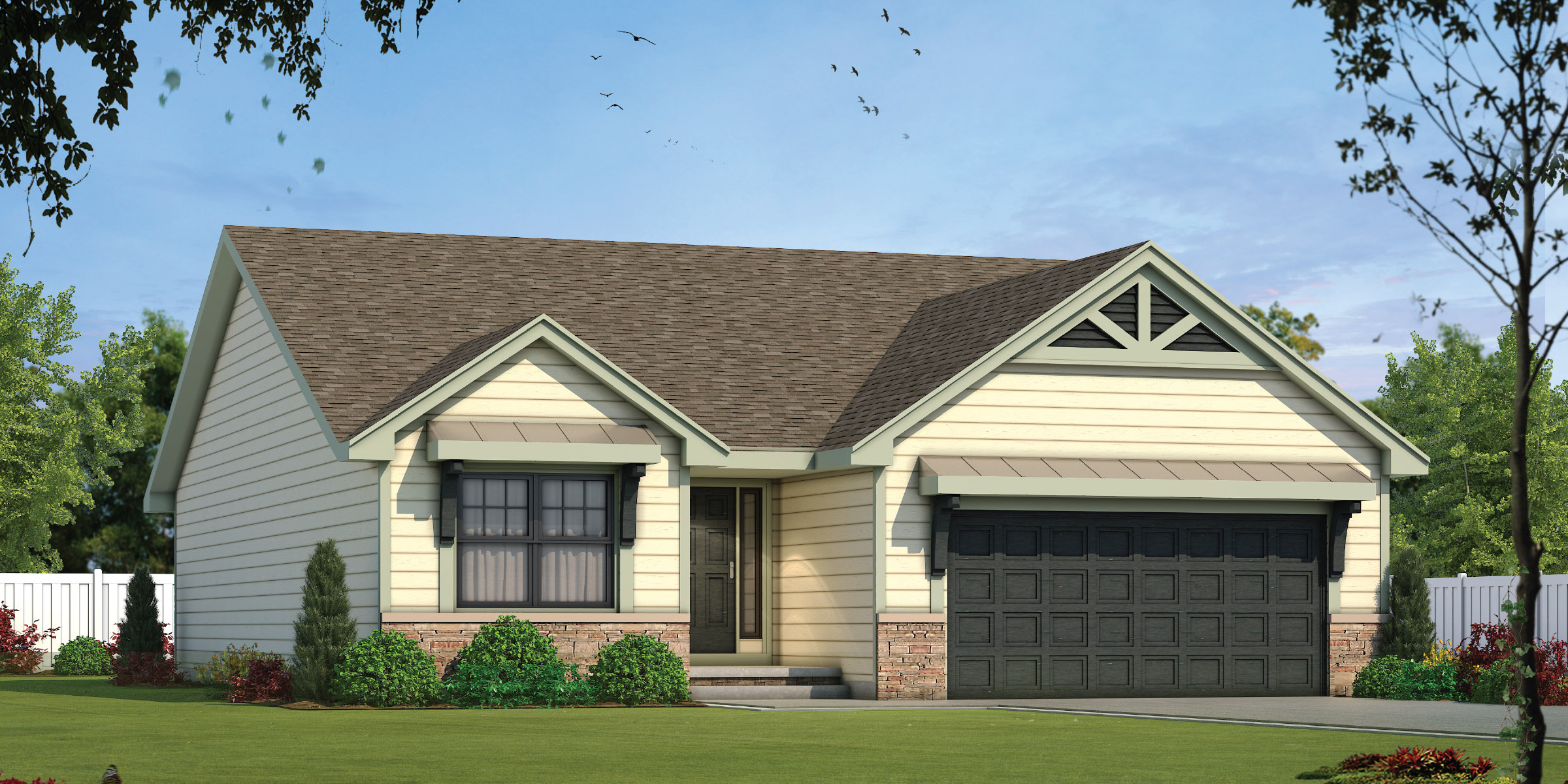 The Oakmont Floor Plan by Ashlar Homes