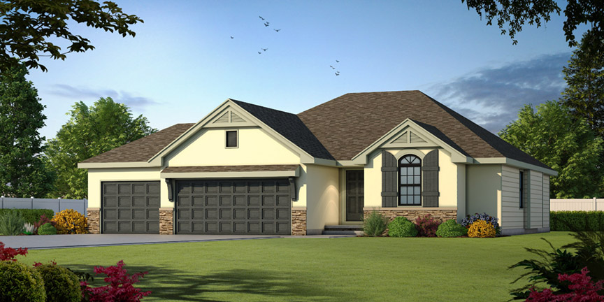 The Redbud Floor Plan by Ashlar Homes