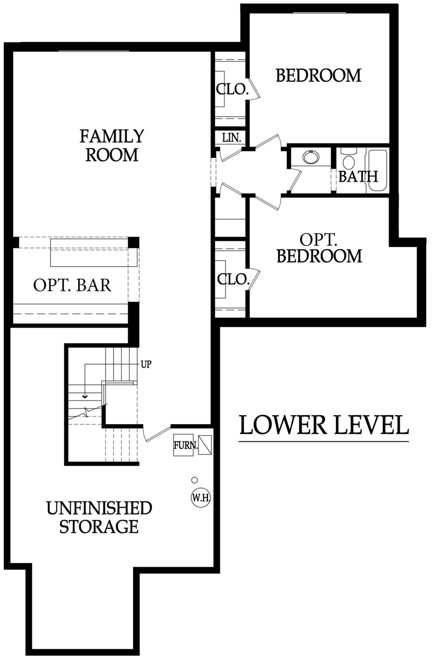 Hazelwood three car floor plan lower level