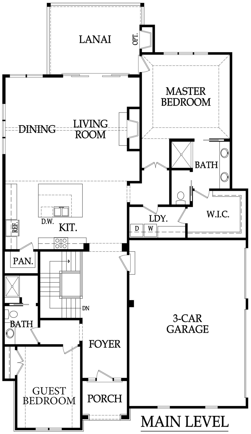 Hazelwood 3 car floor plan main level