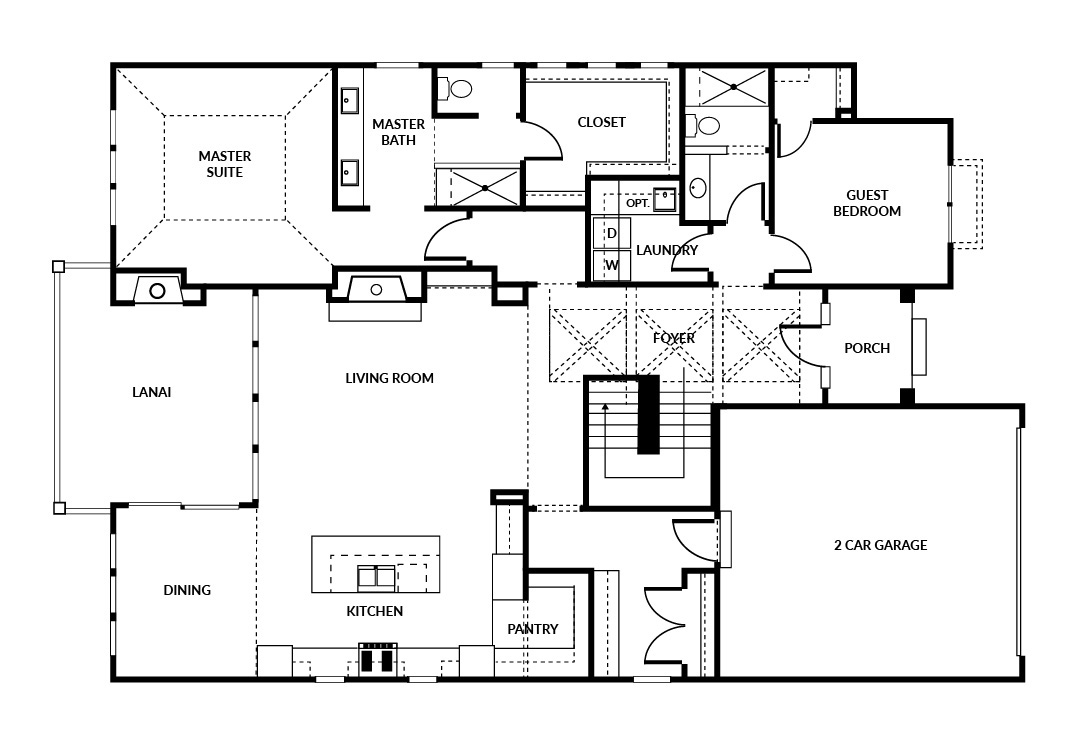 Norwood 2 car floor plan main level