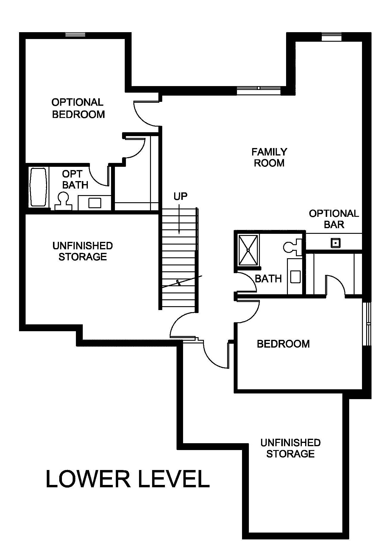 Floor plan Hazelwood lower level