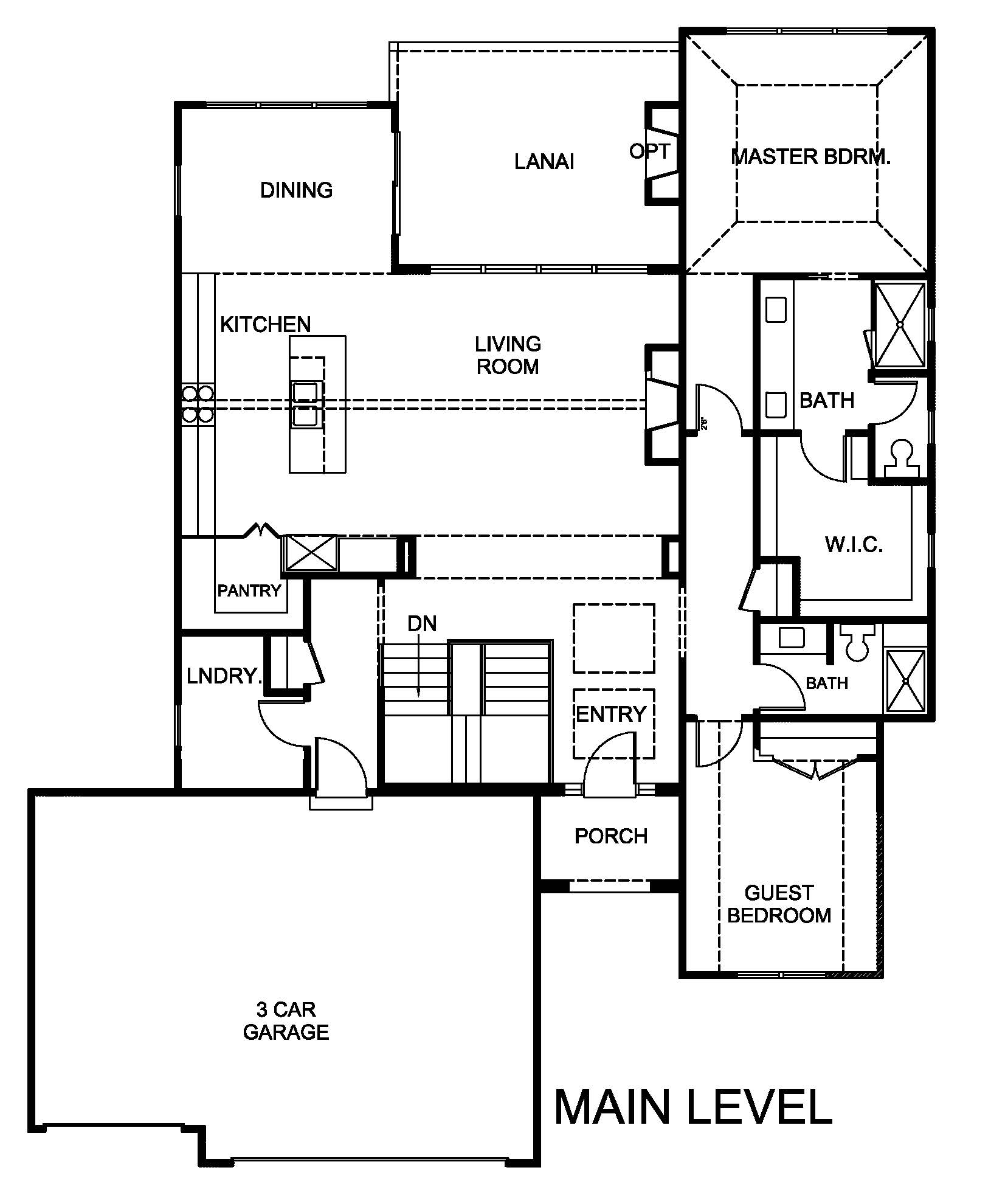 Hazelwood floor plan main level