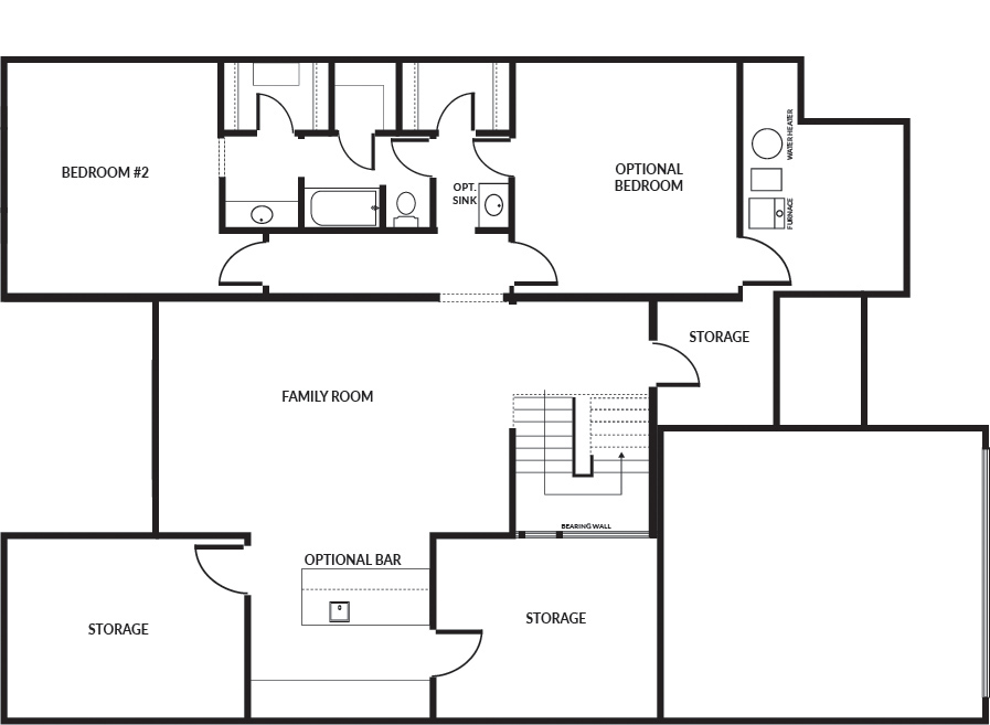 Norwood 2 car floor plan lower level