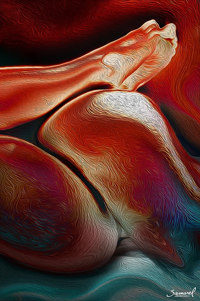 Closeup of a penetration - erotic abstract art print