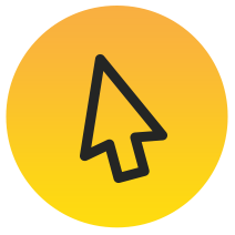click, cursor, yellow, black, arrow, upcoming, sessions, people, topics