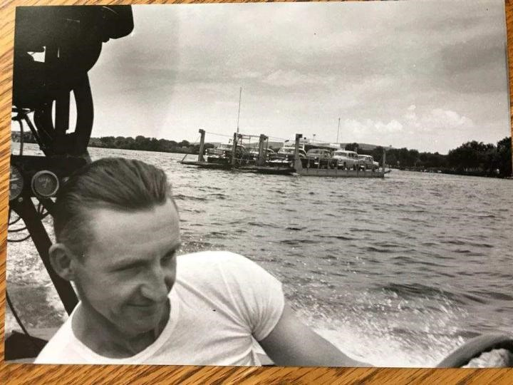 Merrimac Ferry 1956; Photo by Bob Anderson, courtesy of Jim Anderson