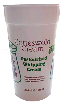 Pasteurised Whipping Cream