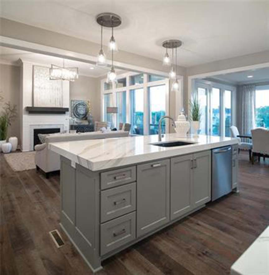 Interior photo for a kitchen island at Sundance Ridge home