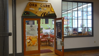 Ora Care store and cafe entrance in Easthampton, MA